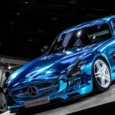 The luxurious Mercedes SLS AMG Electric Drive