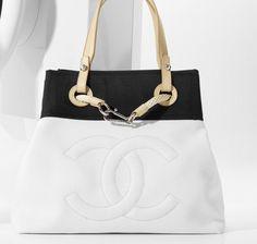 Chanel Bi-Toned Fabric Tote