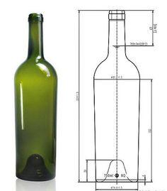 750ml wine bottles