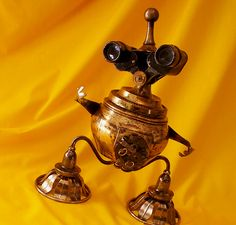 robot sculpture * JESTER - The Comical Steampunk Jewelry Box Robot, via Flickr.