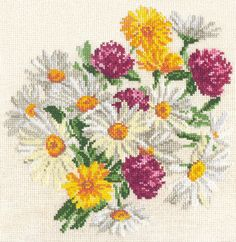 POPPY COUNTED CROSS STITCH KIT 14 COUNT AIDA 27x22CM