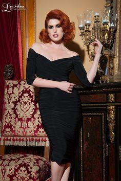 Laura Byrnes California Monica Dress in Black