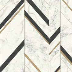 The Manhattan Comfort Groveland Marble Chevron Wallpaper pairs a sophisticated marble pattern with bold chevron stripes for contemporary appeal. Floor Patterns, Wall Patterns, Textures Patterns, Floor Texture, Tiles Texture, Wall Panel Design, Floor Design, Design Design, Marble Wall