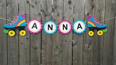 Roller Skate Banner Skating Birthday Party Banner by CraftyCue Glow Party, Disco Party, Roller Skating Party, 9th Birthday Parties, Birthday Kids, Son Luna, Baby Party, Party Time, Crafts