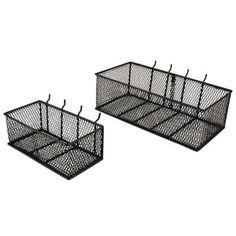 Mesh Peg Board Basket (2-Pack)-24265 - The Home Depot