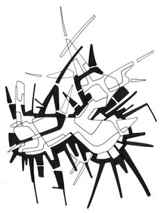 #2006 #abstractart #artabstrait #indianInk #encredechine #dessin #drawing #black #noir #marqueur #feutre #stylo #marker #pen #blackandwhite #futurist #mechanical #handdrawn #faitmain // 44-003