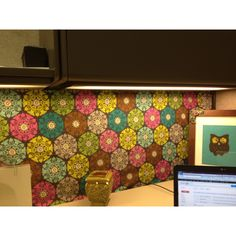 Line your #cubicle walls with cute paper to enhance its #decor.
