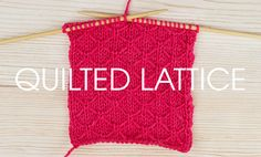 Quilted Lattice Stitch from the Something For The Weekend series of free stitch patterns at Deramores.com