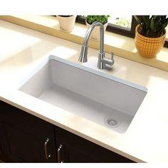 Luxury Kitchens Elkay Quartz Classic L x W Undermount Kitchen Sink Apron Sink Kitchen, Single Bowl Kitchen Sink, Farmhouse Sink Kitchen, Kitchen Sink Faucets, New Kitchen, Kitchen Decor, Kitchen Small, Kitchen Ideas, Kitchen Inspiration