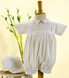 Pretty Originals Style D7849 White Cotton Christening Romper