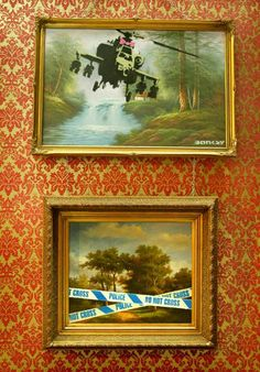 Classic oil paintings painted over by Banksy were also part of the Turf War - The Independent