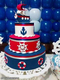 Nautical Birthday Cakes, Nautical Cake, Baby Birthday Cakes, Baby Shower Cakes, Baby Shower Themes, Baby Boy Shower, Sailor Cake, Bolo Fack, Et Wallpaper