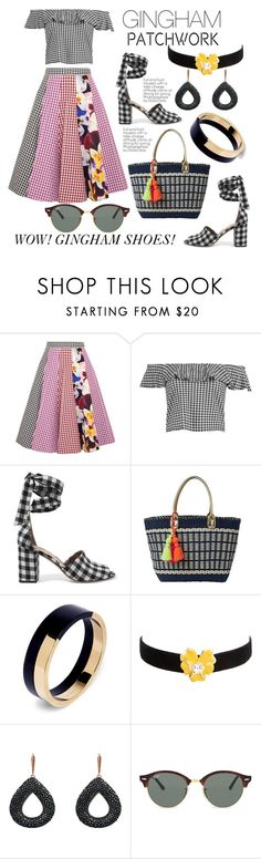 """Gingham Patchwork"" by hastypudding ❤ liked on Polyvore featuring Christopher Kane, Boohoo, Sam Edelman, Lilly Pulitzer, Marni, Kenneth Jay Lane, Zimmermann, Ray-Ban, contest and polyvorecommunity"