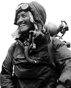 Tenzing Norgay was a Nepalese Indian Sherpa mountaineer. Among the most famous mountain climbers in history, he was one of the first two individuals known to reach the summit of Mount Everest, which he accomplished with Edmund Hillary on 29 May, 1952 (? Mount Everest Deaths, Monte Everest, Adventure Aesthetic, Mountain Climbers, Mountaineering, Rock Climbing, Bouldering, Portrait, Survival