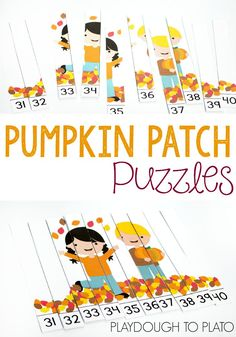 These free pumpkin counting puzzles are an awesome kindergarten math activity or math center for fall!