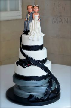 Movie, film themed wedding cake.