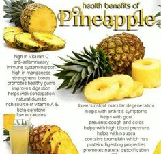 Health Benefits of Pineapple -  The future of your health is in your hands - click the pic to learn more ...