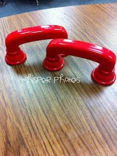 Whisper phones for reading to self. Good for fluency. Been using PVC pipes with my ESL students the past two weeks!