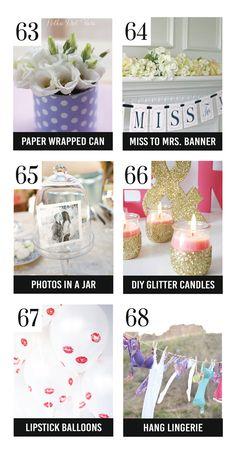 Cute DIY Bridal Shower Decorations
