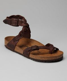 Take a look at this Haban Brown Yara Sandal by Tatami by Birkenstock on #zulily today! I LOVE THESE!!!