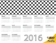 ¡Descarga el Calendario 2016 BIC y llena el año de color!