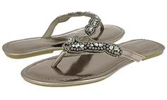 Capelli New York Lucite Trim Metallic Faux Leather Ladies  I love these sandals! They fit perfect, dont rub or pinch anywhere and are just beautiful. My dog actually chewed up my first pair and I was devastated I immediately purchased another pair