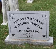 This is the headstone of Elijah Bond the man who patented the ouija board.