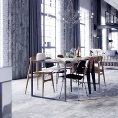 "Remake ""Corona Loft by by me , Max + Corona Renderer Modern Interior, Kitchen Interior, Interior And Exterior, Interior Design, Design Room, 3d Design, Interior Rendering, Interior Architecture, 3d Rendering"
