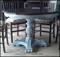 blue and espresso table annie sloan paint