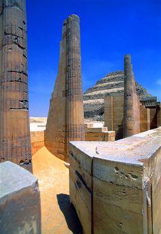 Step Pyramid at Saqqara in Egypt