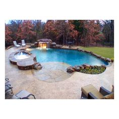 Eight Different Pool Designs for In Ground Pools found on Polyvore