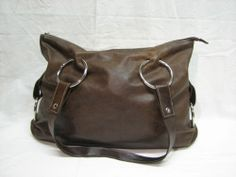 PRUNE-Dark-Brown-Leather-Hobo-Handbag-Purse-Bag