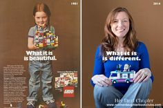 """""""In 1981, LEGOs were simple and gender-neutral, and the creativity of the child produced the message,"""" Giordano told her. """" In 2014, it's the reverse: the toy delivers a message to the child, and this message is weirdly about gender."""""""