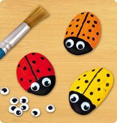 Ladybug Rocks | Rainy Day Activities