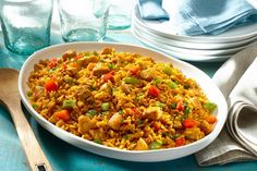 Southwestern Chicken and Rice - Recipes Diet Recipes, Chicken Recipes, Cooking Recipes, Healthy Recipes, Sausage Recipes, Turkey Recipes, Easy Recipes, Yellow Rice Spanish, Seafood