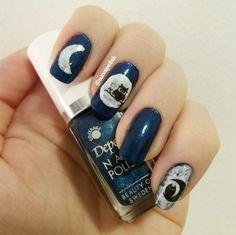 Owl nail art!