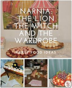 The Lion, The Witch And The Wardrobe: Narnia Party Food Ideas - Diary of a First Child Vegan Party Food, Best Party Food, Party Food And Drinks, Party Snacks, Food Themes, Food Ideas, Decor Ideas, Fairy Bread, Party Food Platters