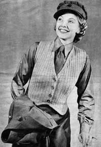 Womans Waistcoat from Essentials for the Forces (Jaeger Hand-Knit Series No. 44), 1940s.