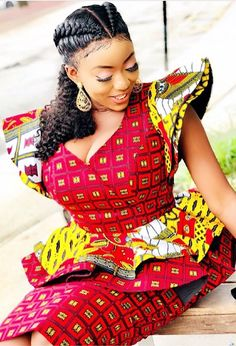 Ankara Xclusive: Beautiful African Print Styles For Plus Size and Curvy Ladies African Dresses For Women, African Print Dresses, African Attire, African Fashion Dresses, African Wear, African Women, African Style, Ankara Fashion, African Prints