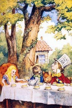 Tea party, Alice in wonderland