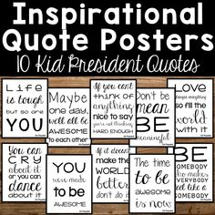 Inspirational Quote Posters - Kid President Quotes from Count On Me Inspirational Classroom Quotes, Inspirational Message, Daily Quotes, Best Quotes, Life Quotes, Kid President Quotes, Elementary Counseling, School Counselor, School Murals