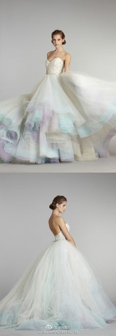 lazaro 2013 colorful wedding dress-really considering this one!!!!!! I love it lots!