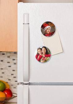 For an easy grandparent gift, try juice lid magnets with the kids.  Print the photos you need for this project at Kodak Picture Kiosk.