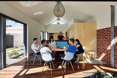Cut Paw Paw is a renovation and extension to a double fronted weatherboard home inSeddon, Victoria, Australia.Cut Paw Paw is the name of. Living Area, Living Spaces, Sliding Wall, Outdoor Baths, Old Room, Front Rooms, House Inside, Eames Chairs, Sit Back And Relax