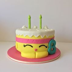 wishes - shopkins cake 6th Birthday Parties, Birthday Cake Girls, Birthday Fun, Birthday Cakes, Shopkins Bday, Shopkins Cake, Fondant, Novelty Cakes, Cake Table