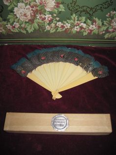 Rare Antique Child's Peacock Feather Fan