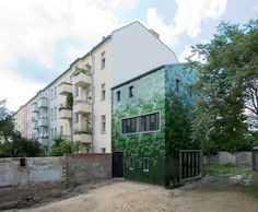 Solar-Powered Berlin Home Features a Camouflaging Pixelated Fa...