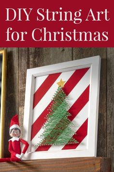 Make this cute DIY Christmas string art featuring a simple tree! Get a free template too – that makes this project REALLY easy. Love this unique holiday decor. Christmas Wood, Handmade Christmas, Christmas Crafts, Christmas Stocking, Christmas Ideas, Christmas Ornaments, String Art Templates, String Art Patterns, Printable Christmas Cards
