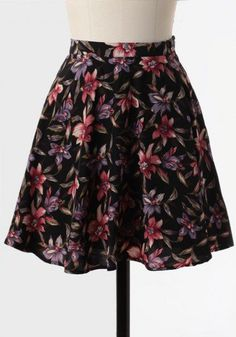 #Ruche                    #Skirt                    #Night #Song #Floral #Skirt                         Night Song Floral Skirt                             http://www.seapai.com/product.aspx?PID=496107