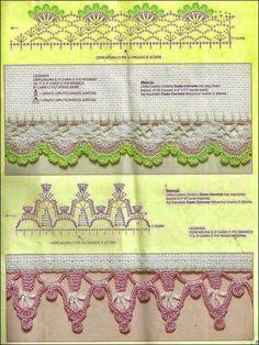 10 patrones de puntillas decorativas | Todo crochet